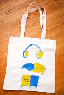 """Artwork Bag """"Listen, Speak, Read UA"""""""