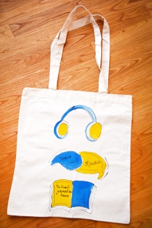 "Artwork Bag ""Listen, Speak, Read UA"""